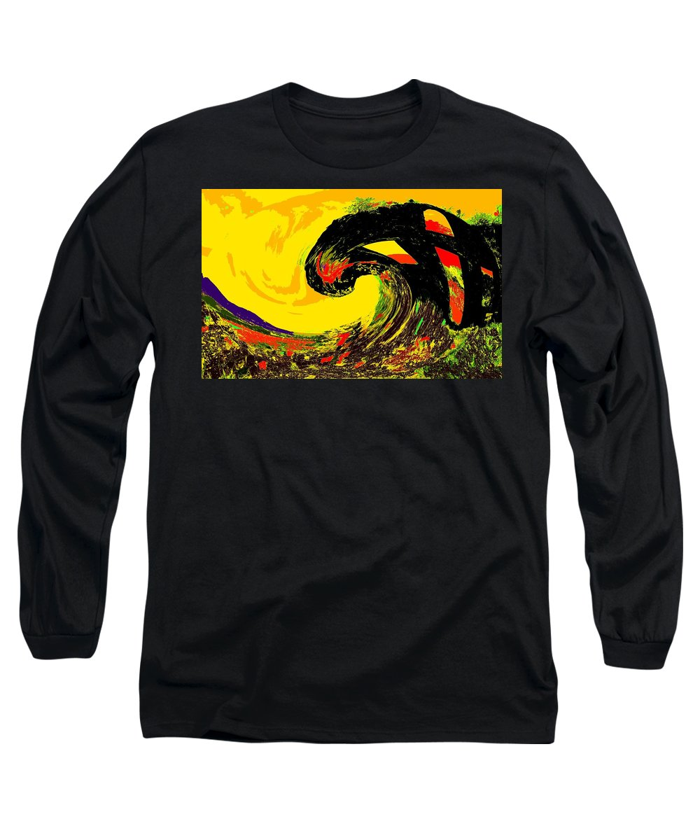 Abstract Long Sleeve T-Shirt featuring the photograph Swept Away by Ian MacDonald