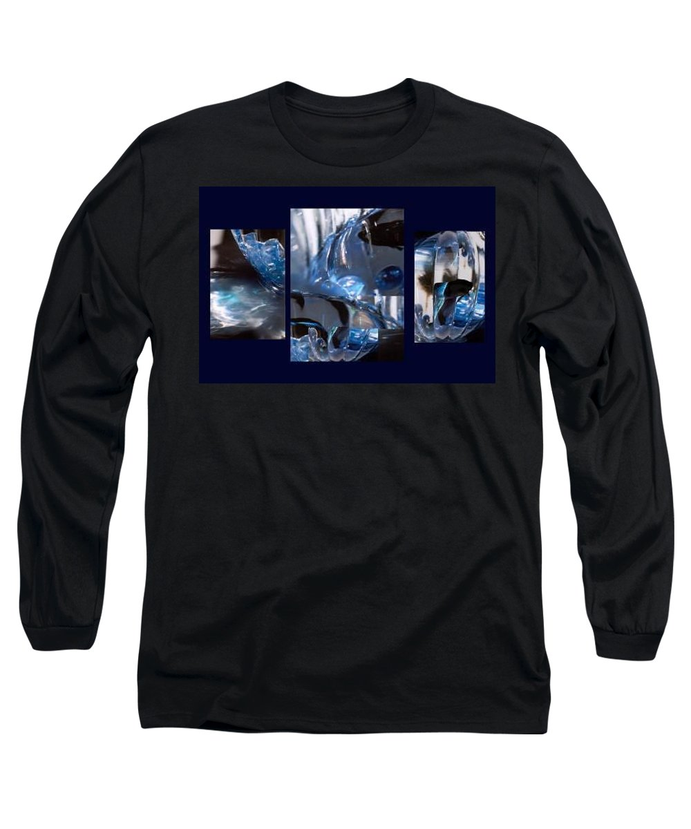 Abstract Of Betta In A Bowl Long Sleeve T-Shirt featuring the photograph Swirl by Steve Karol
