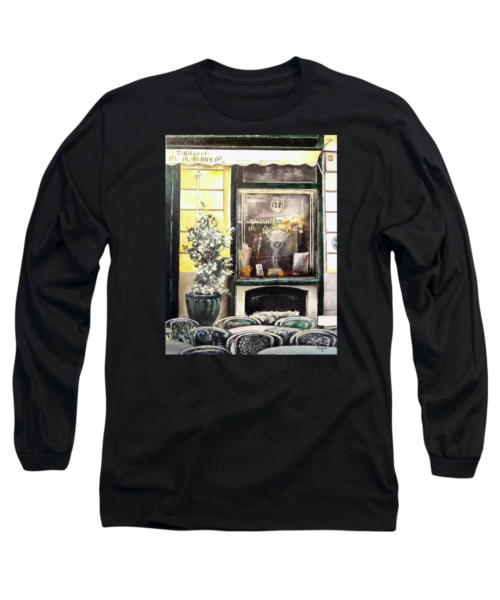 Old Long Sleeve T-Shirt featuring the painting Taberna Del Alabardero-madrid by Tomas Castano