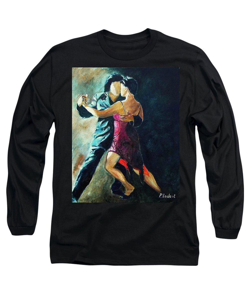 Tango Long Sleeve T-Shirt featuring the painting Tango by Pol Ledent