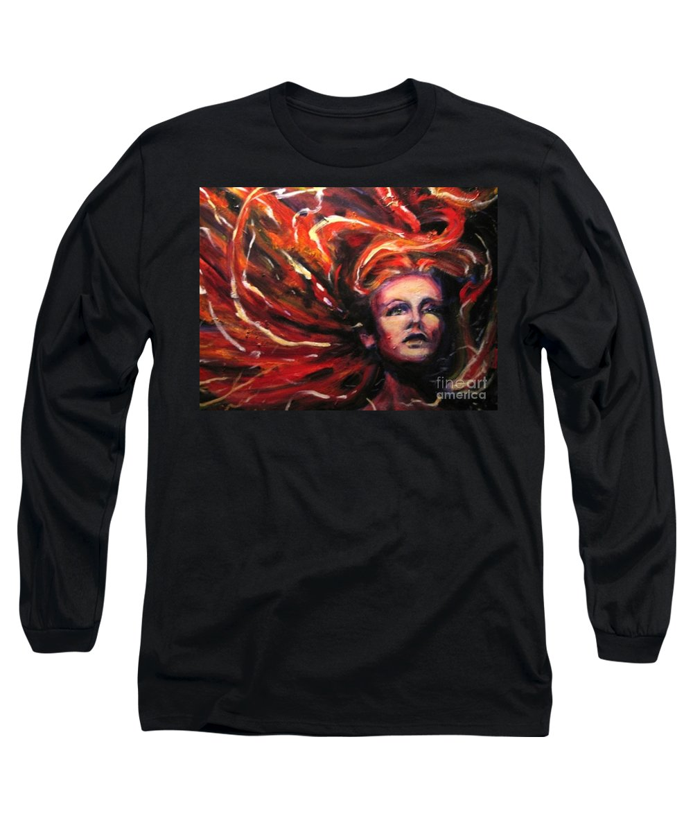 Bright Long Sleeve T-Shirt featuring the painting Tempest by Jason Reinhardt