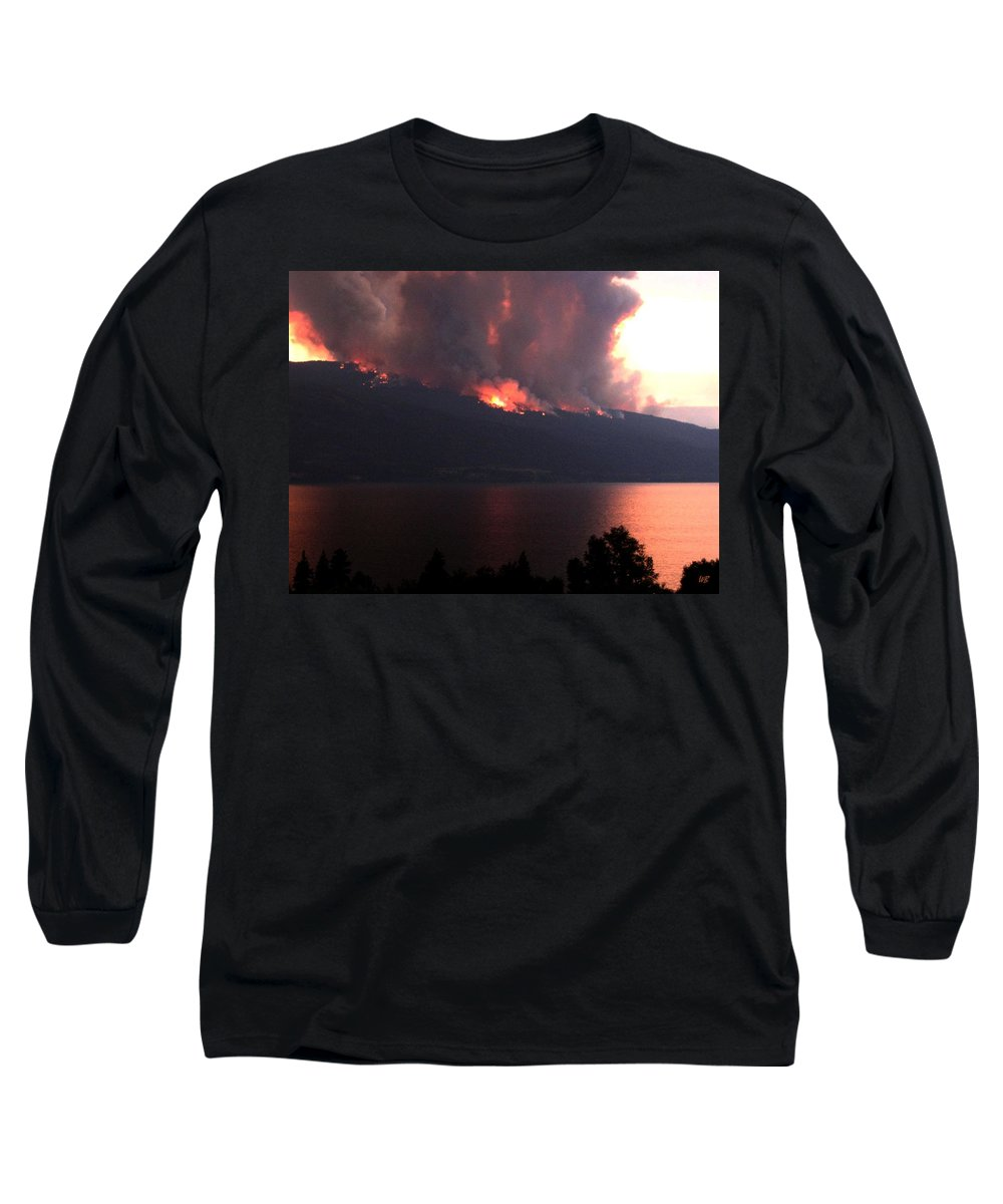 Forest Fire Long Sleeve T-Shirt featuring the photograph Terrace Mountain Fire 5 by Will Borden