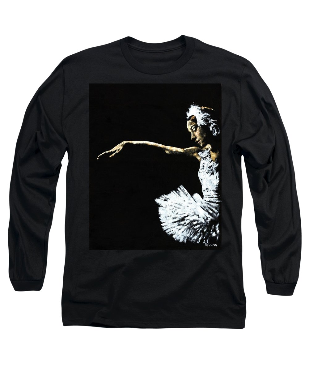 Ballet Long Sleeve T-Shirt featuring the painting The Art Of Grace by Richard Young