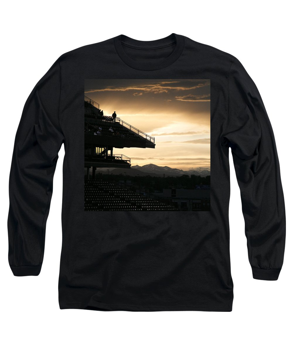Sunset Long Sleeve T-Shirt featuring the photograph The Beauty Of Baseball In Colorado by Marilyn Hunt