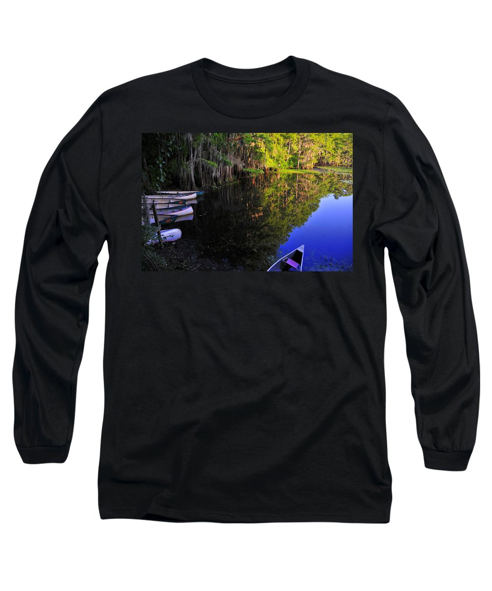 Skip Hunt Long Sleeve T-Shirt featuring the photograph The Black Lagoon by Skip Hunt