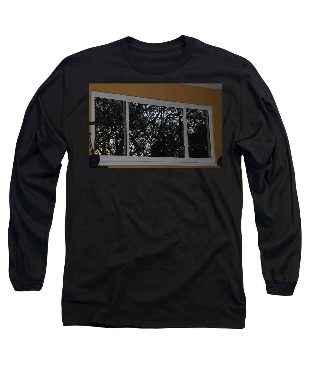 Window Long Sleeve T-Shirt featuring the photograph The Branch Window by Rob Hans