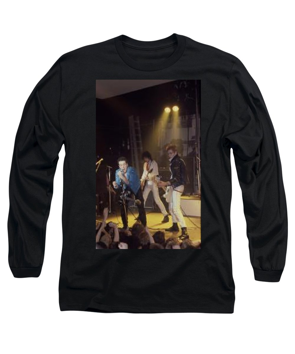 The Clash-london 1978 Photo By Dawn Wirth-copyrighted Long Sleeve T-Shirt featuring the photograph The Clash-london - July 1978 by Dawn Wirth