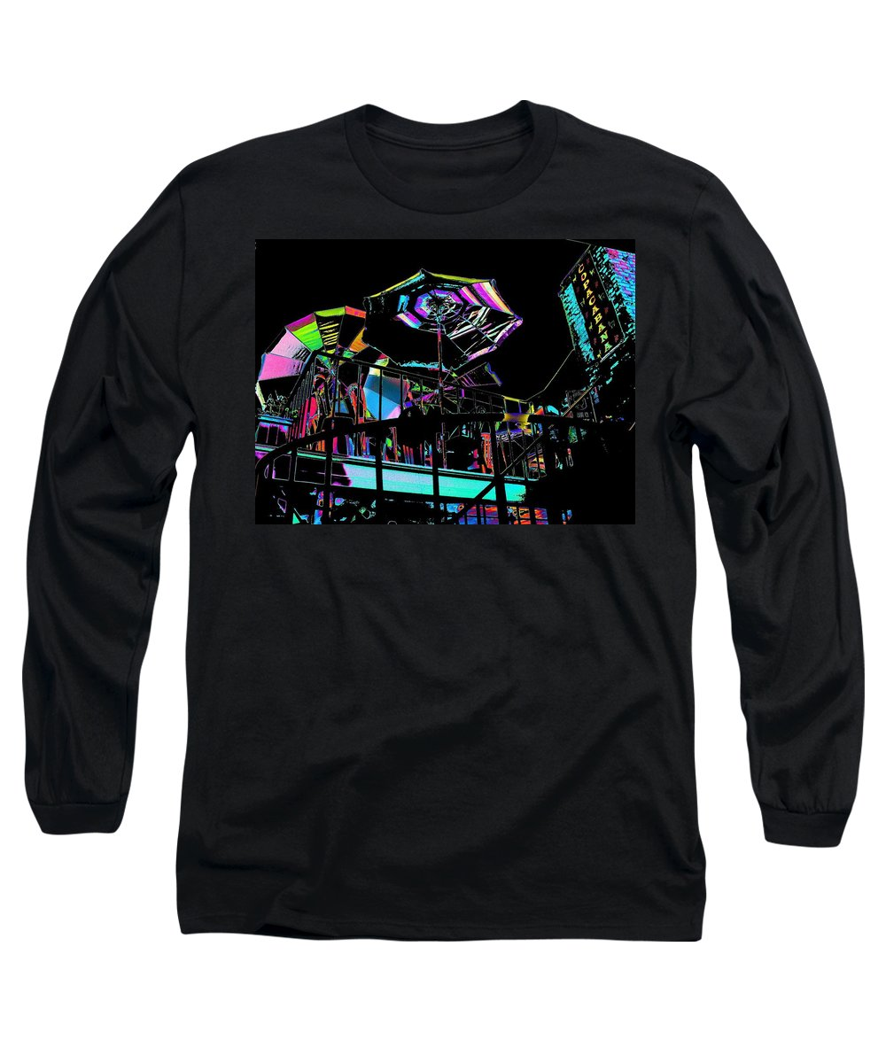 Seattle Long Sleeve T-Shirt featuring the digital art The Copacabana by Tim Allen