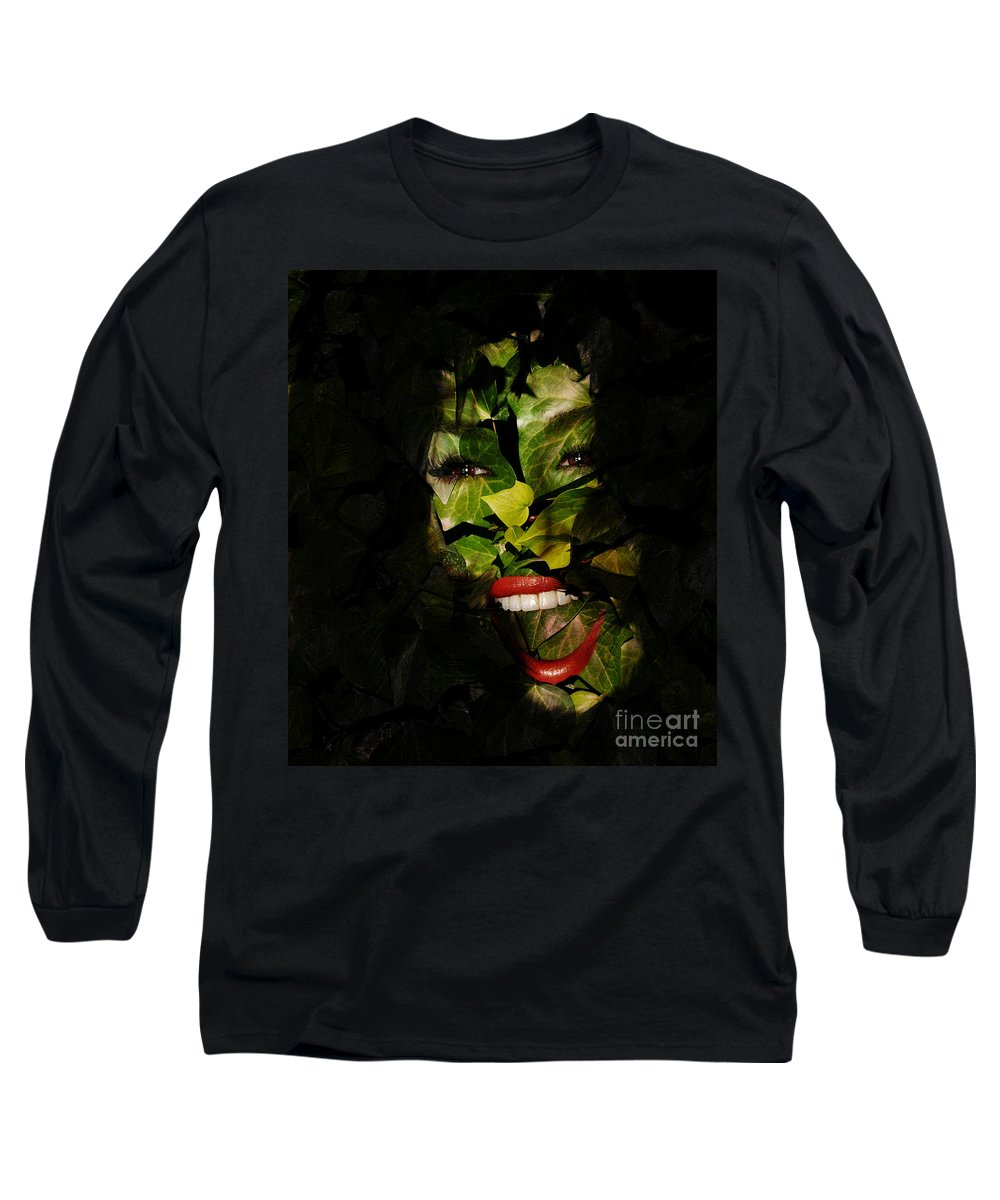 Clay Long Sleeve T-Shirt featuring the photograph The Eyes Of Ivy by Clayton Bruster