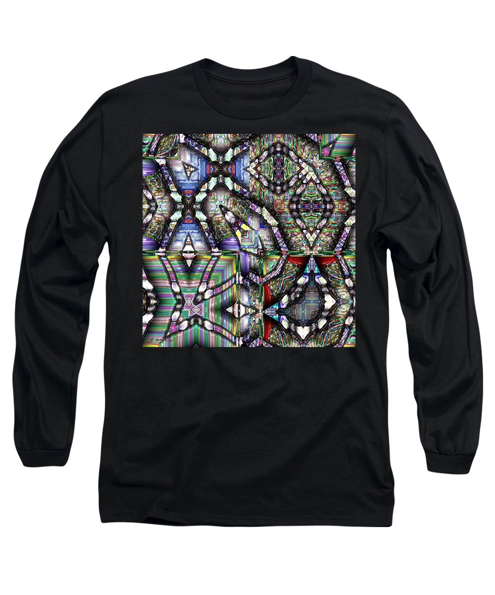 Abstract Long Sleeve T-Shirt featuring the painting The Four Horsemen Of The Apocalypse by RC DeWinter