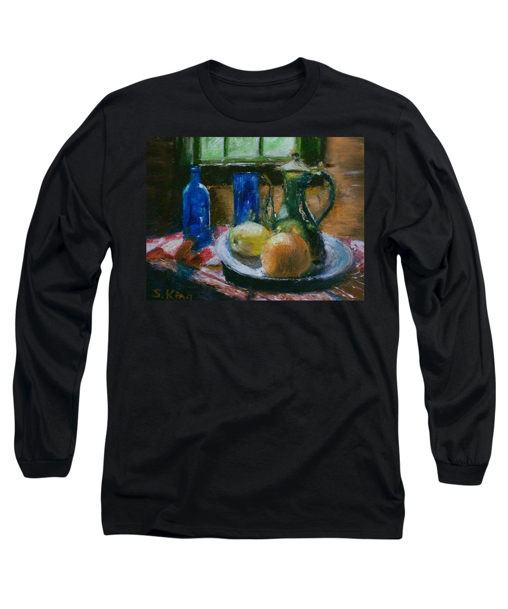 Origianl Long Sleeve T-Shirt featuring the painting The Gathering by Stephen King