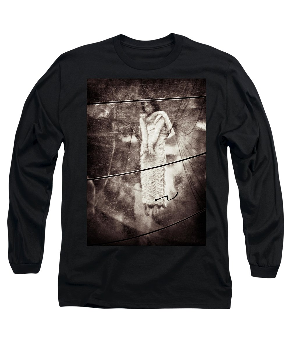 Girl Long Sleeve T-Shirt featuring the photograph The Girl In The Bubble by Dave Bowman