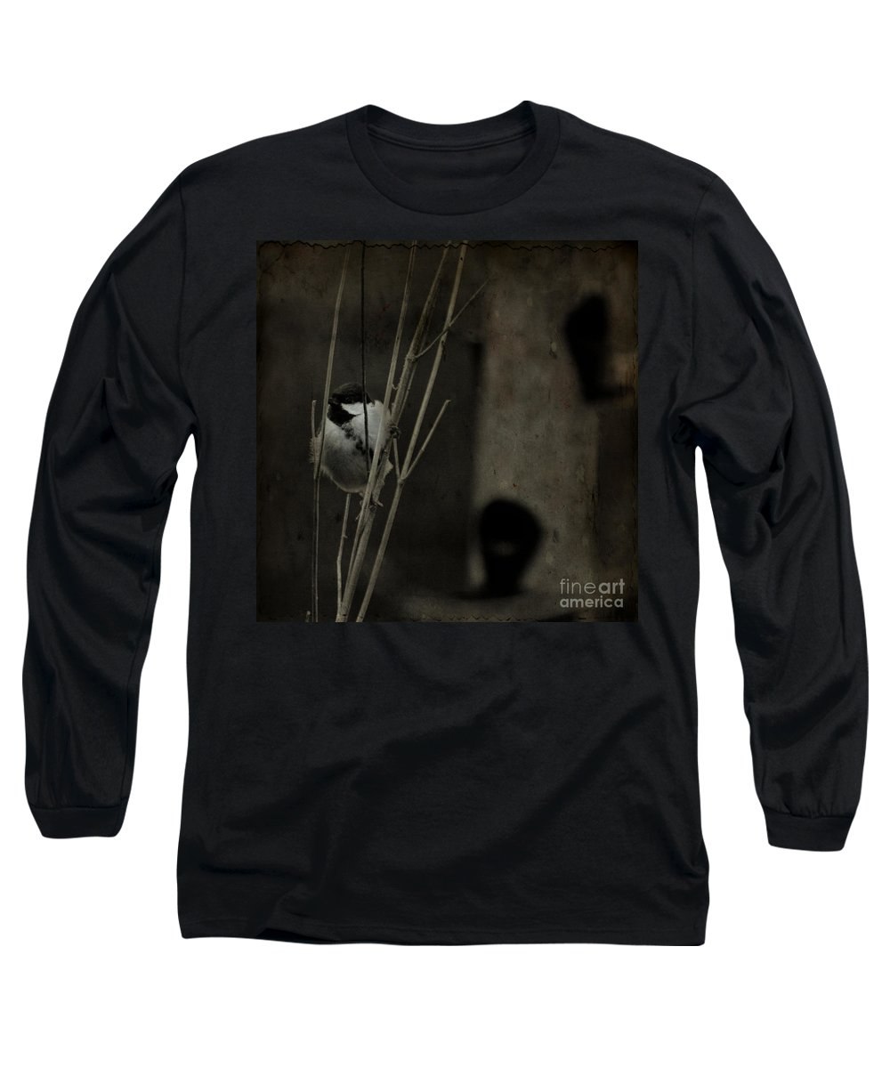 Tit Long Sleeve T-Shirt featuring the photograph The Great Tit by Angel Ciesniarska