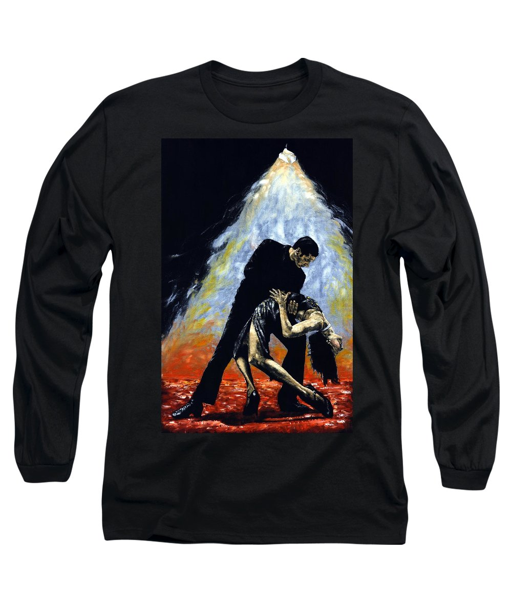Tango Long Sleeve T-Shirt featuring the painting The Intoxication Of Tango by Richard Young