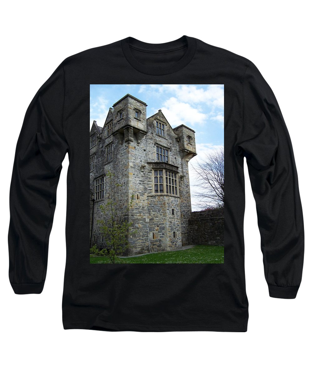 Ireland Long Sleeve T-Shirt featuring the photograph The Keep At Donegal Castle Ireland by Teresa Mucha