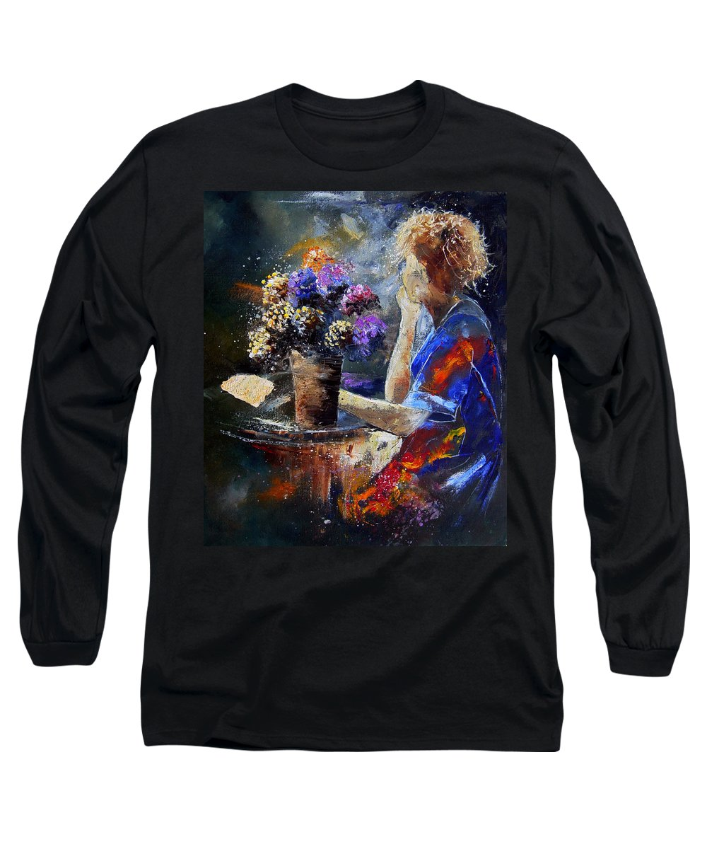 Girl Nude Long Sleeve T-Shirt featuring the painting The Letter by Pol Ledent