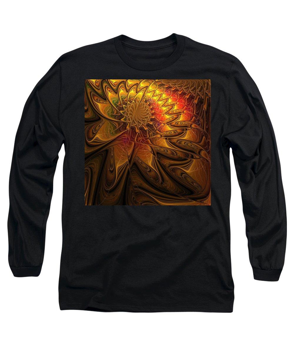 Digital Art Long Sleeve T-Shirt featuring the digital art The Midas Touch by Amanda Moore