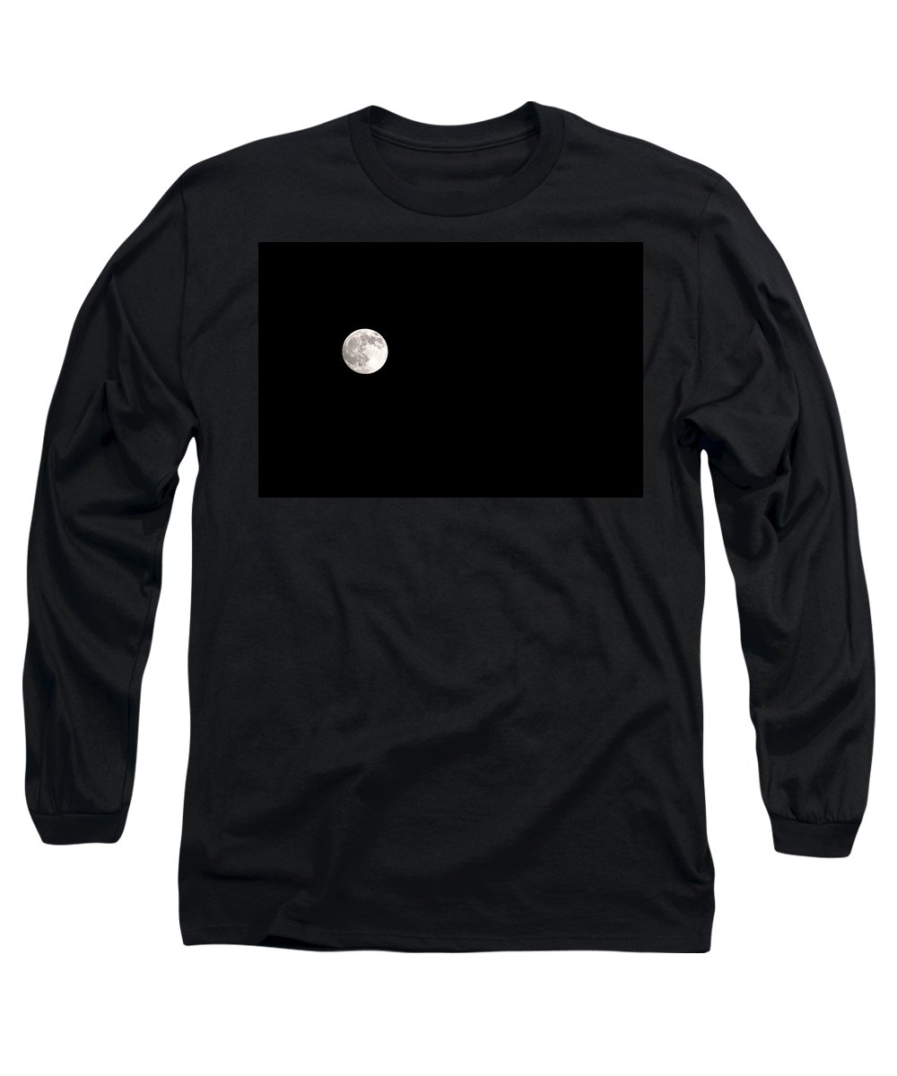 Clay Long Sleeve T-Shirt featuring the photograph The Moon by Clayton Bruster