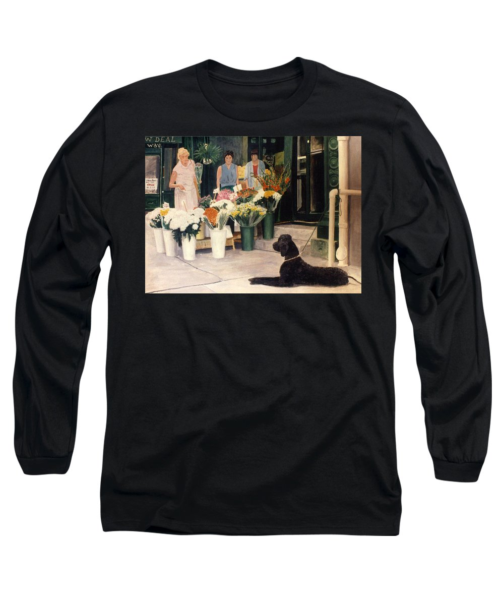 Mums Long Sleeve T-Shirt featuring the painting The New Deal by Steve Karol