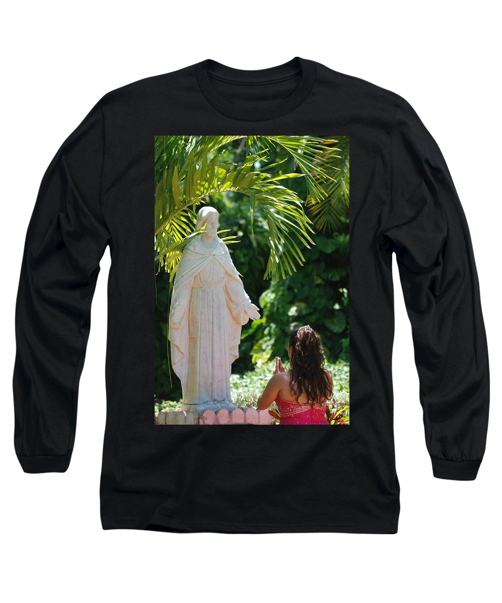 Portrait Long Sleeve T-Shirt featuring the photograph The Praying Princess by Rob Hans