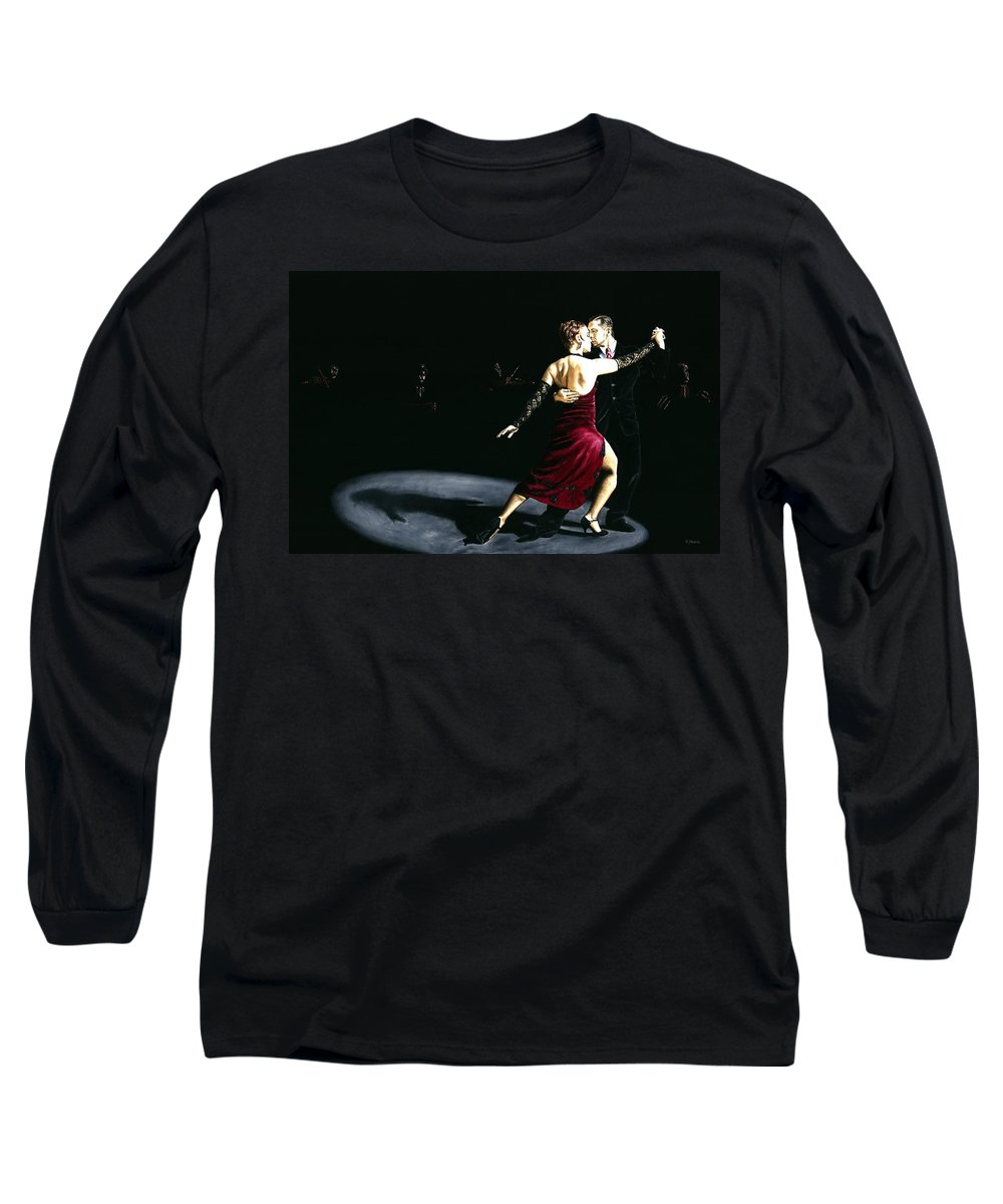 Tango Long Sleeve T-Shirt featuring the painting The Rhythm Of Tango by Richard Young
