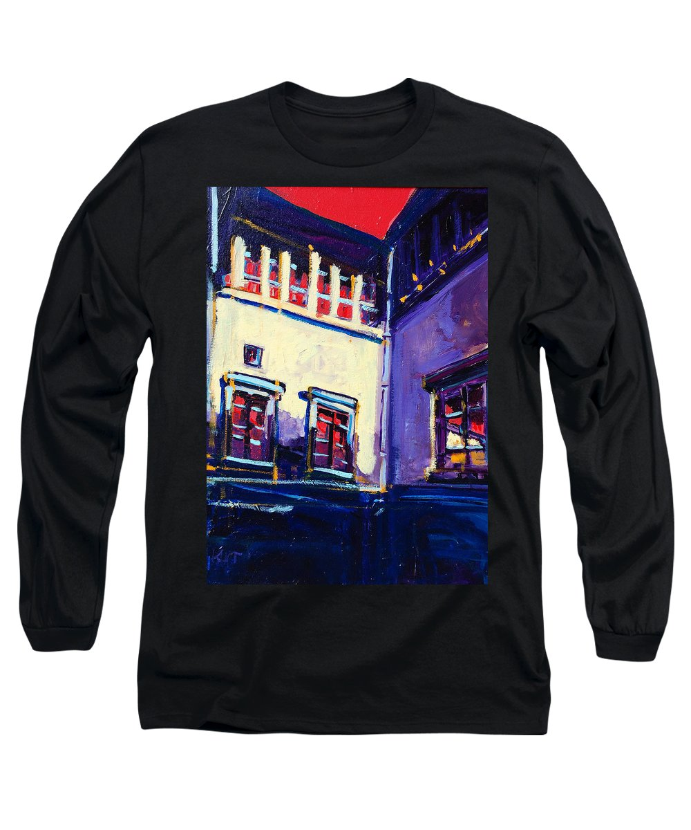 School Long Sleeve T-Shirt featuring the painting The School by Kurt Hausmann