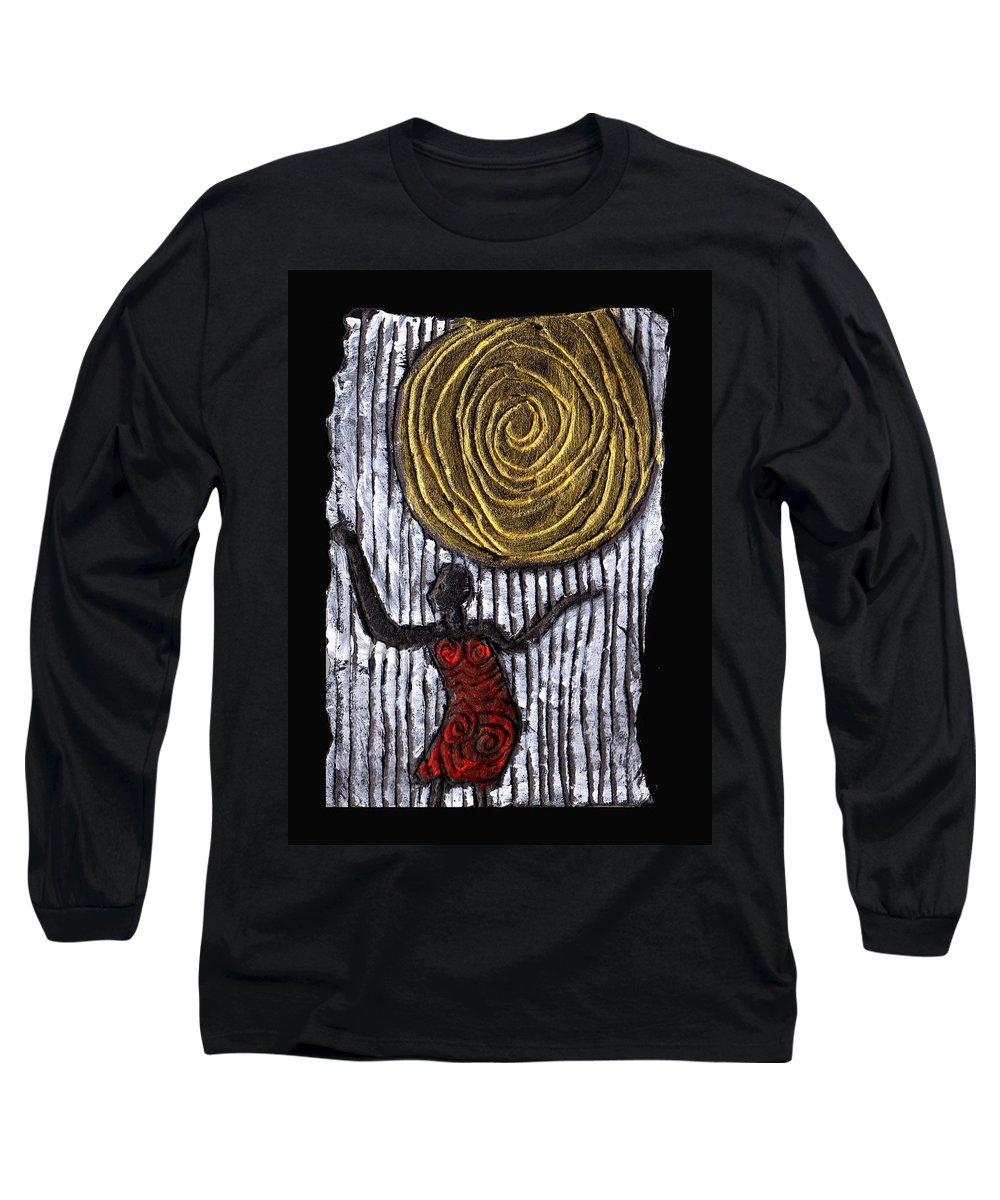 Woman Long Sleeve T-Shirt featuring the painting The Sun And I by Wayne Potrafka