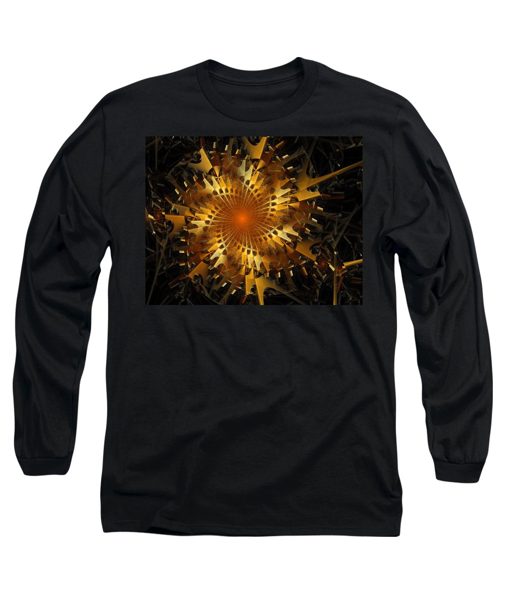 Digital Art Long Sleeve T-Shirt featuring the digital art The Wheels Of Time by Amanda Moore