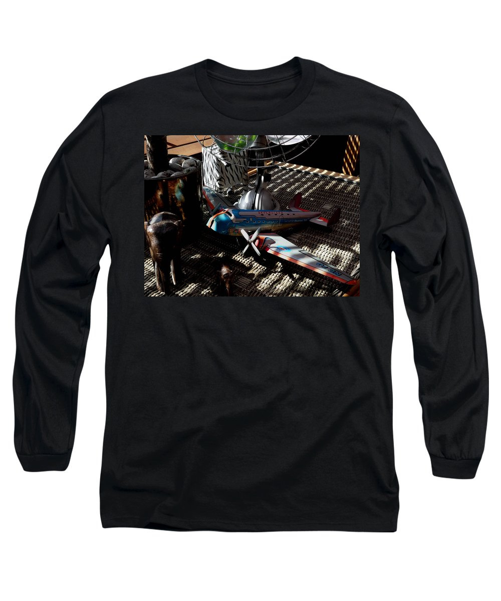 Still Life Long Sleeve T-Shirt featuring the photograph The Zebra In Colour by Charles Stuart