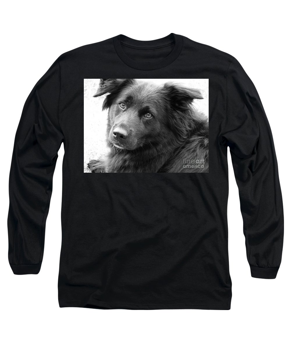 Dog Long Sleeve T-Shirt featuring the photograph Thinking by Amanda Barcon