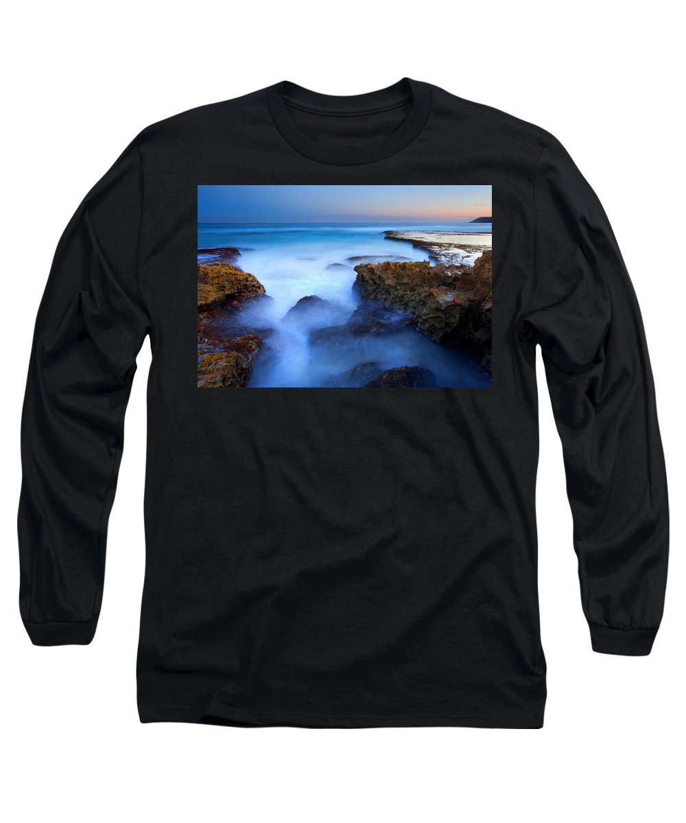 Pennington Bay Long Sleeve T-Shirt featuring the photograph Tidal Bowl Boil by Mike Dawson