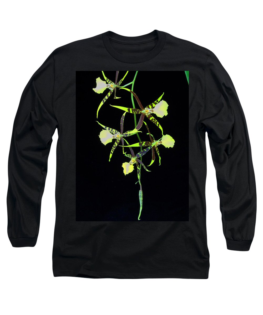 Orchid Long Sleeve T-Shirt featuring the photograph Tigers by Laurie Paci