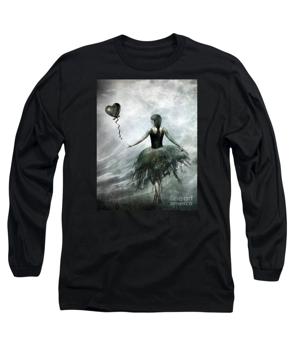Ballet Long Sleeve T-Shirt featuring the painting Time To Let Go by Jacky Gerritsen