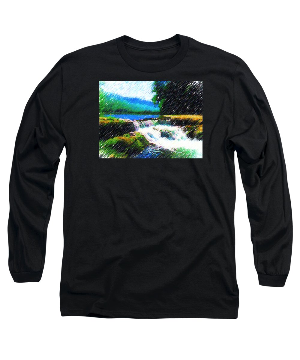 Landscape Long Sleeve T-Shirt featuring the photograph Tolhuaca by Madalena Lobao-Tello