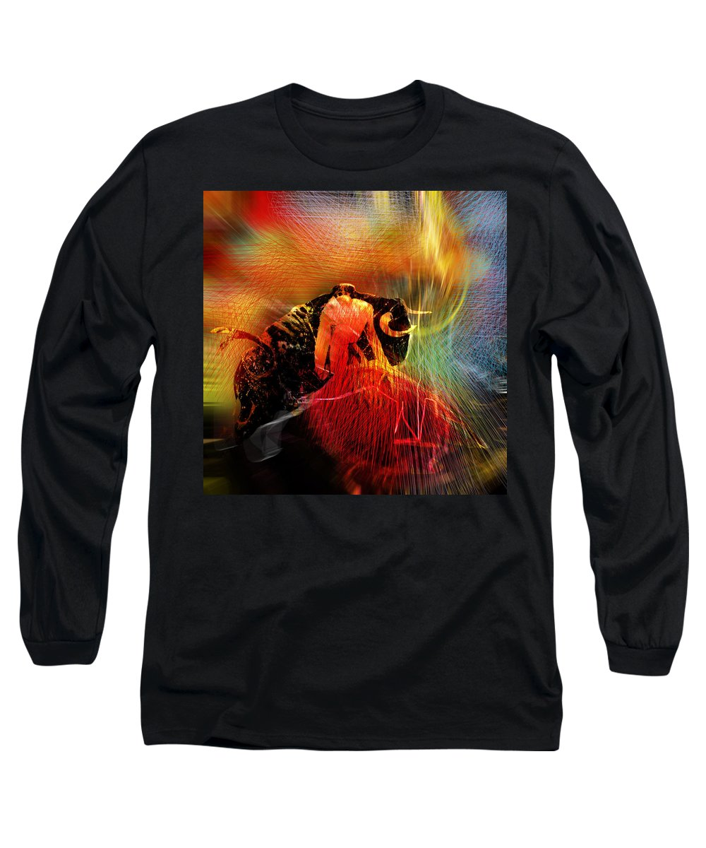 Toros Long Sleeve T-Shirt featuring the painting Toroscape 19 by Miki De Goodaboom
