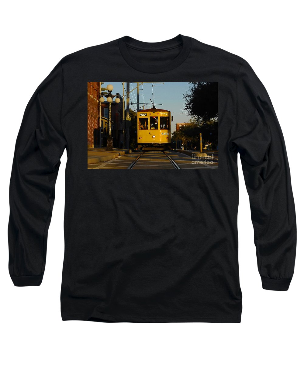 Trolley Long Sleeve T-Shirt featuring the photograph Trolley Ride by David Lee Thompson