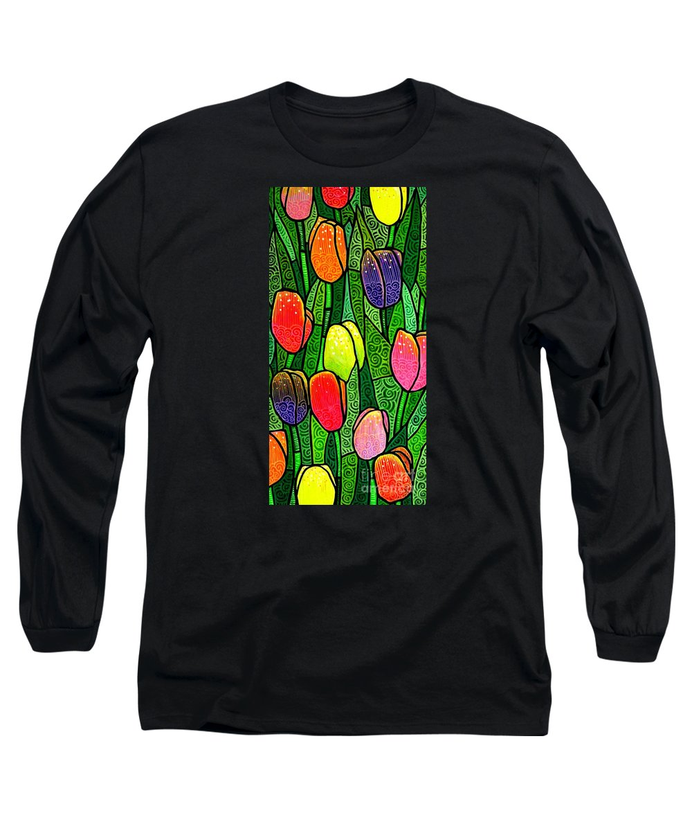Tulips Long Sleeve T-Shirt featuring the painting Tulip Glory by Jim Harris