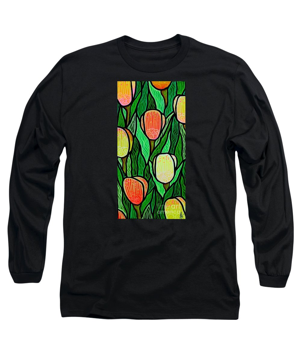 Tulips Long Sleeve T-Shirt featuring the painting Tulip Joy 2 by Jim Harris