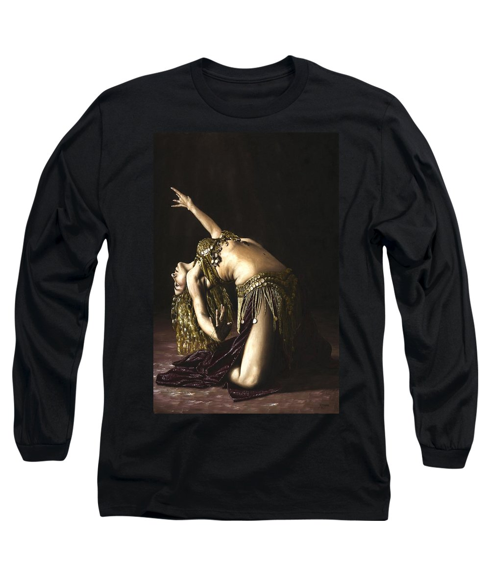 Turkish Long Sleeve T-Shirt featuring the painting Turkish Delight by Richard Young