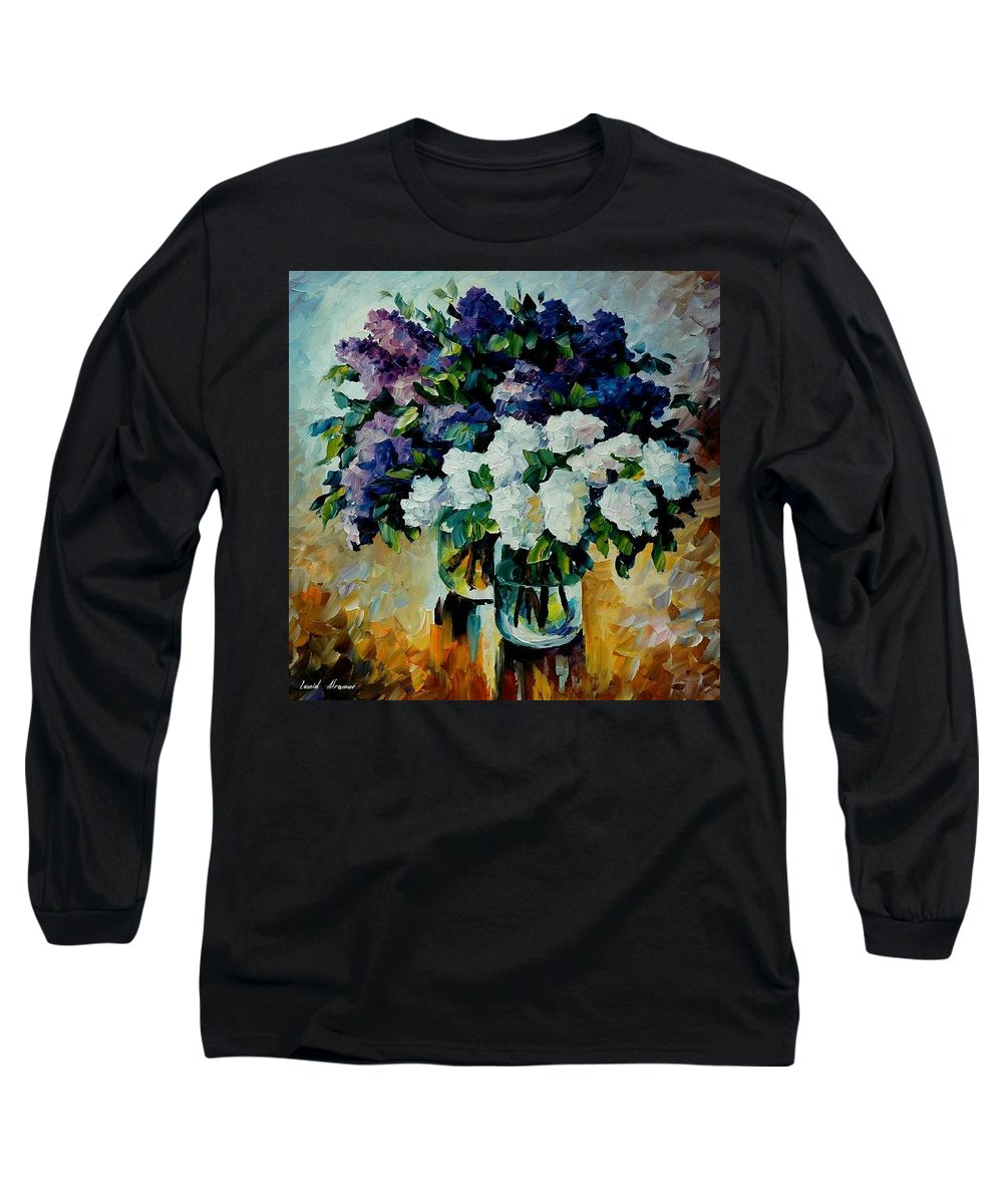 Painting Long Sleeve T-Shirt featuring the painting Two Spring Colors by Leonid Afremov