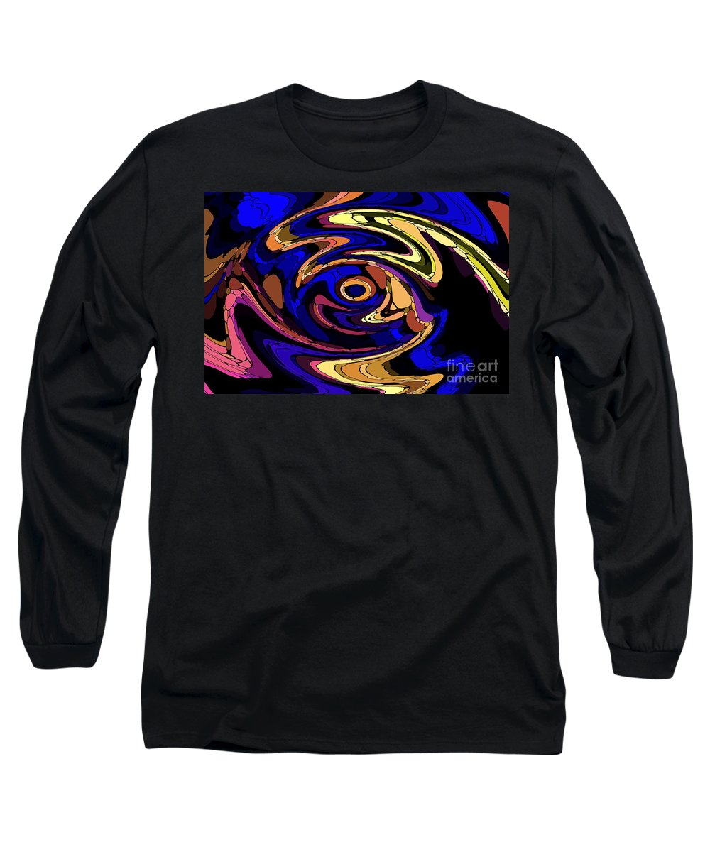 Abstract Long Sleeve T-Shirt featuring the digital art Untitled 7-04-09 by David Lane