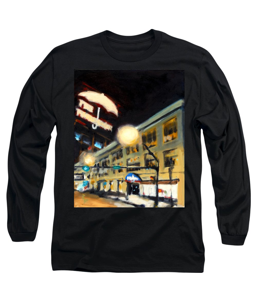 Rob Reeves Long Sleeve T-Shirt featuring the painting Untitled by Robert Reeves