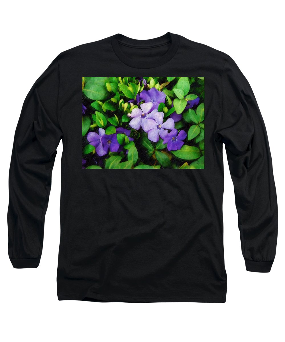Vinca Long Sleeve T-Shirt featuring the photograph Vinca by Sandy MacGowan