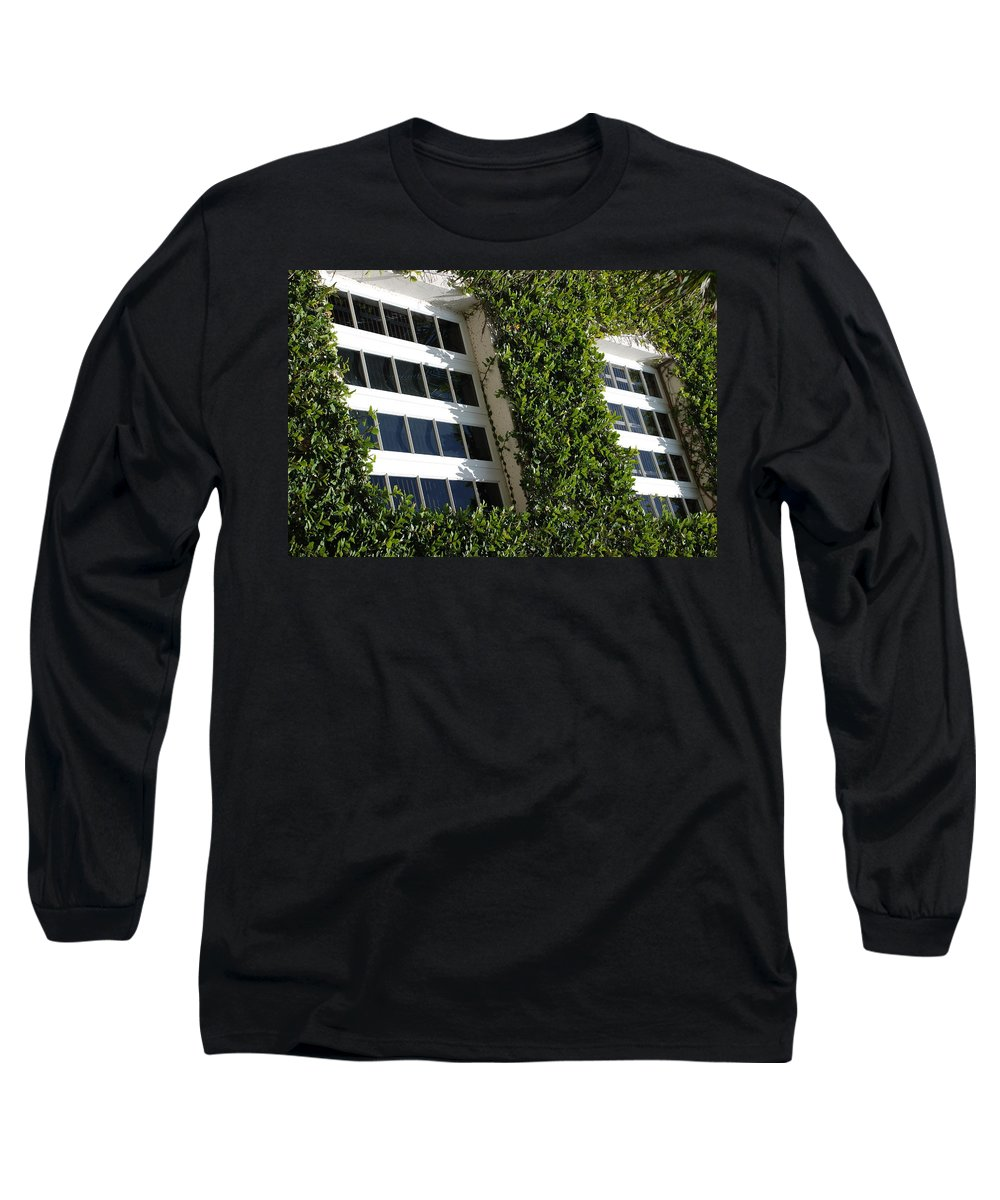 Architecture Long Sleeve T-Shirt featuring the photograph Vines And Glass by Rob Hans