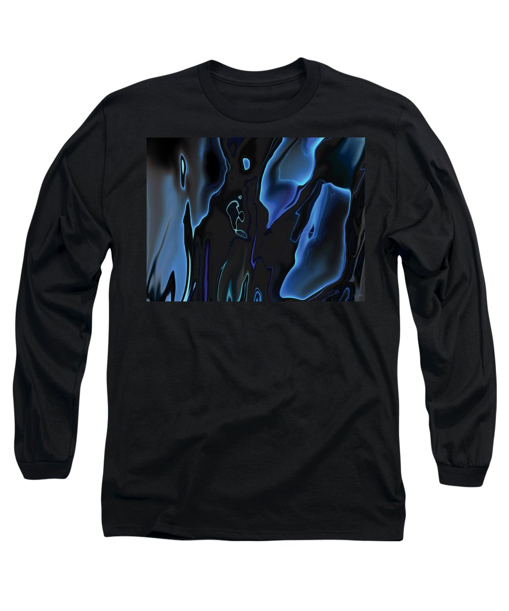 Abstract Long Sleeve T-Shirt featuring the digital art Virtual Life 1 by Rabi Khan