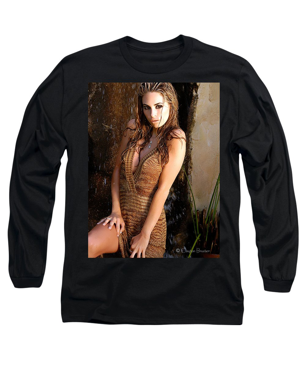 Clay Long Sleeve T-Shirt featuring the photograph Water Fall Beauty by Clayton Bruster