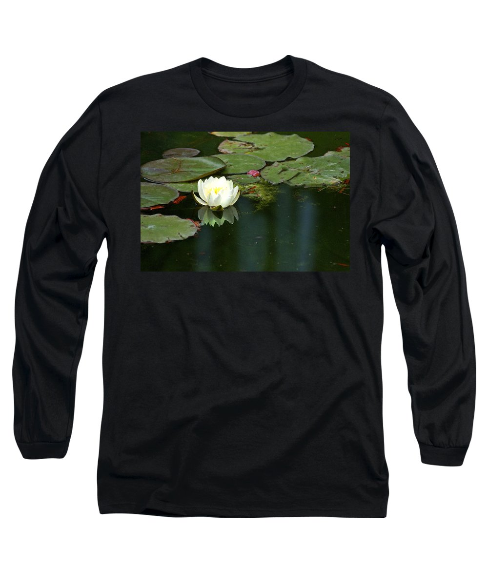 Lily Long Sleeve T-Shirt featuring the photograph Water Lily by Heather Coen
