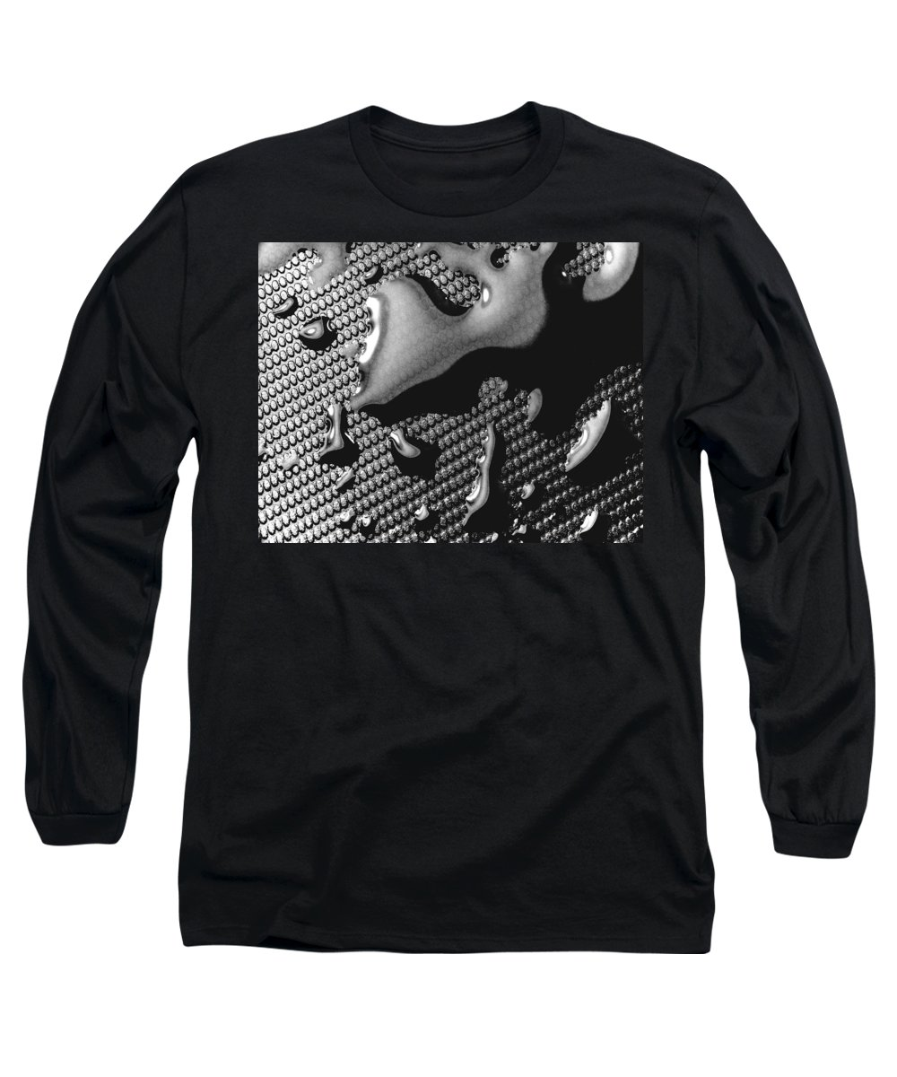 Water Drop Long Sleeve T-Shirt featuring the photograph Waterdrop 5 by Nancy Mueller
