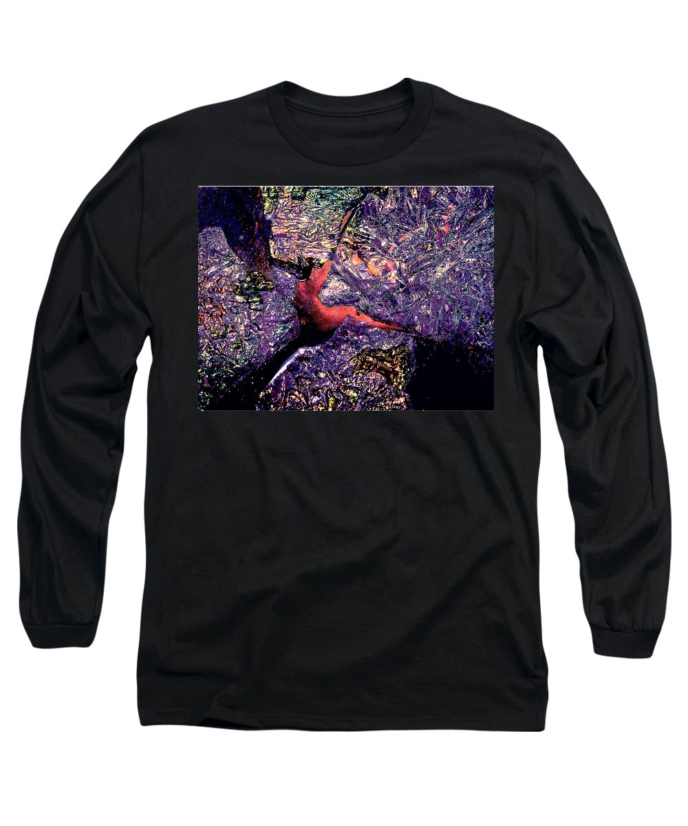 Water Long Sleeve T-Shirt featuring the photograph Waterdrop Abstract by Nancy Mueller