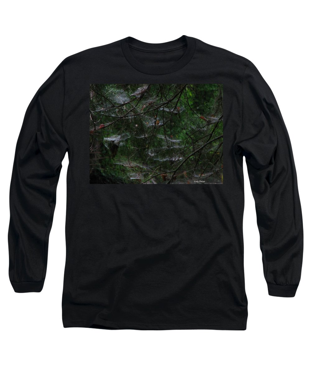 Patzer Long Sleeve T-Shirt featuring the photograph Webs Of A Tree by Greg Patzer